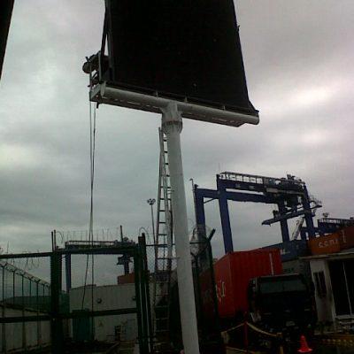Panel gigante para puerto de Buenaventura